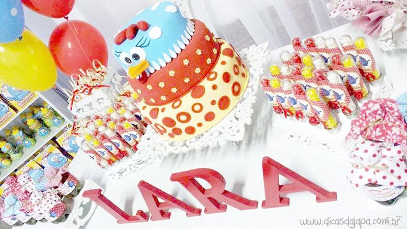 Dicas da japa festa da galinha pintadinha letra com nome