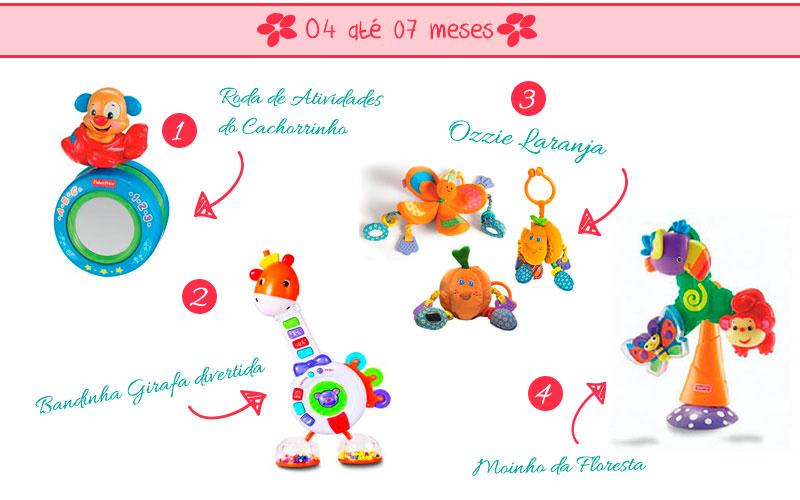 Brinquedos de 4 até 7 meses