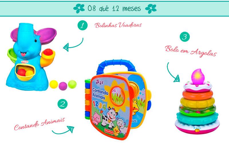 Brinquedos de 8 até 12 meses
