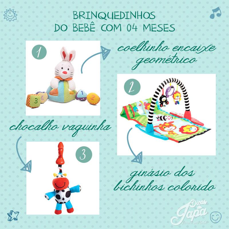 Brinquedos para bebês de 4 meses