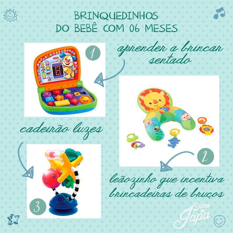 Brinquedos para bebês de 6 meses