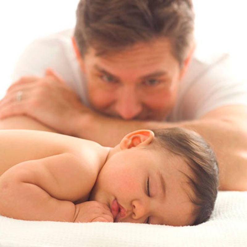 Inspirações de fotos para bebê e papai 12