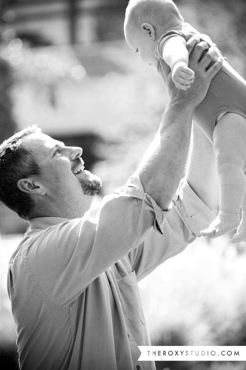 Inspirações de fotos para bebê e papai 14