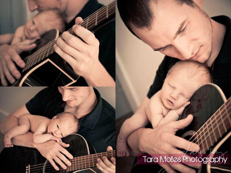 Inspirações de fotos para bebê e papai 3