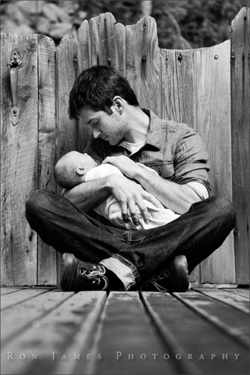Inspirações de fotos para bebê e papai 5