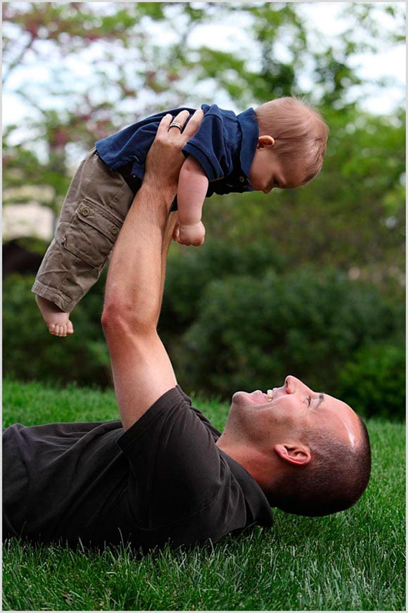 Inspirações de fotos para bebê e papai 6