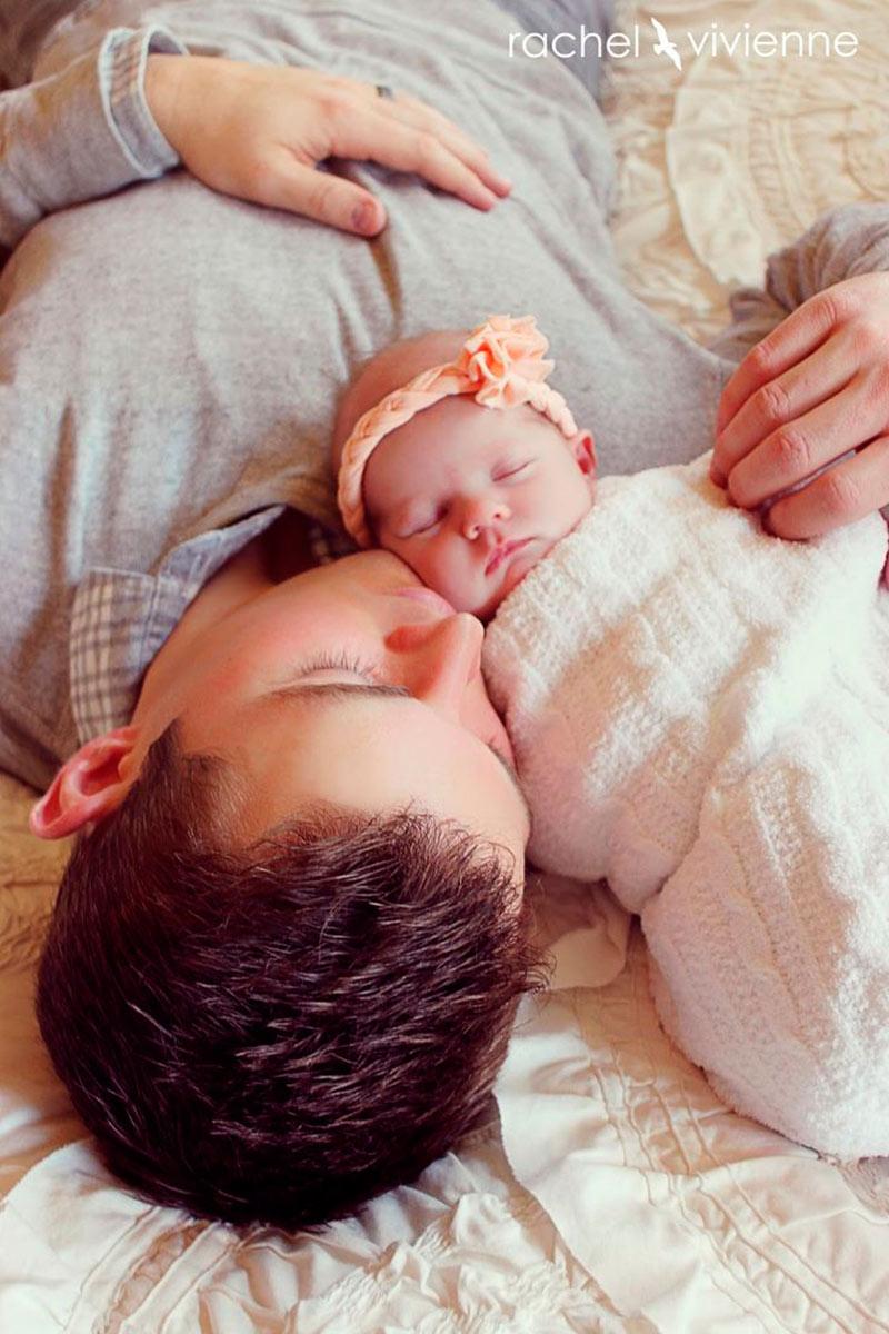 Inspirações de fotos para bebê e papai 7