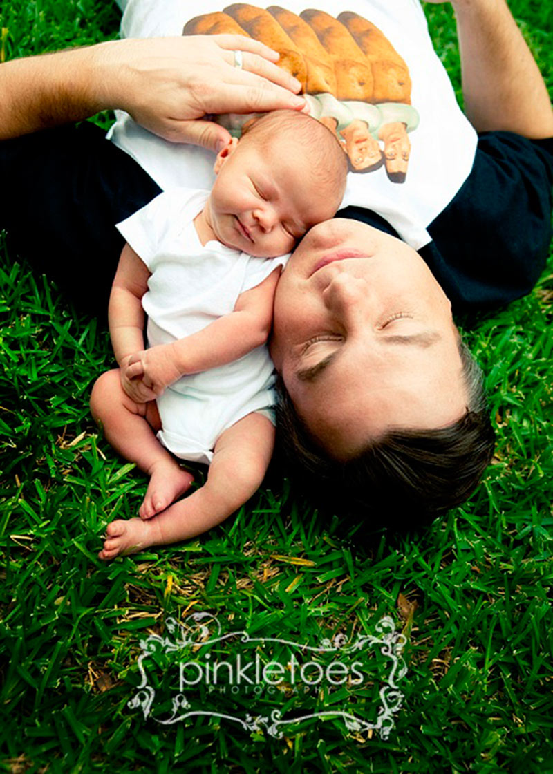 Inspirações de fotos para bebê e papai 9