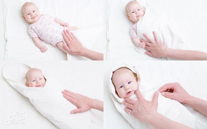 Como  embalar o bebê e parar de chorar