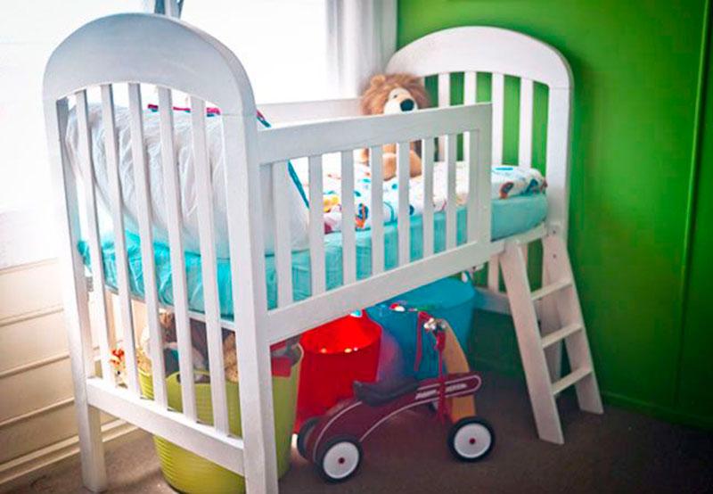 Reutilizando berço de bebê