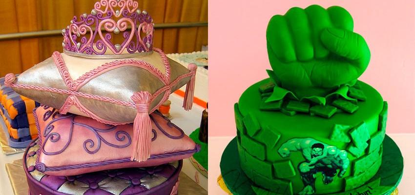 42 ideias de bolos para festas infantis