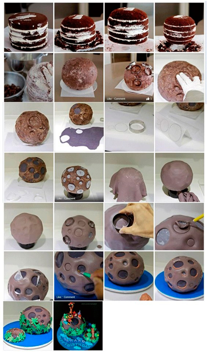 Montar bolo infantil 25