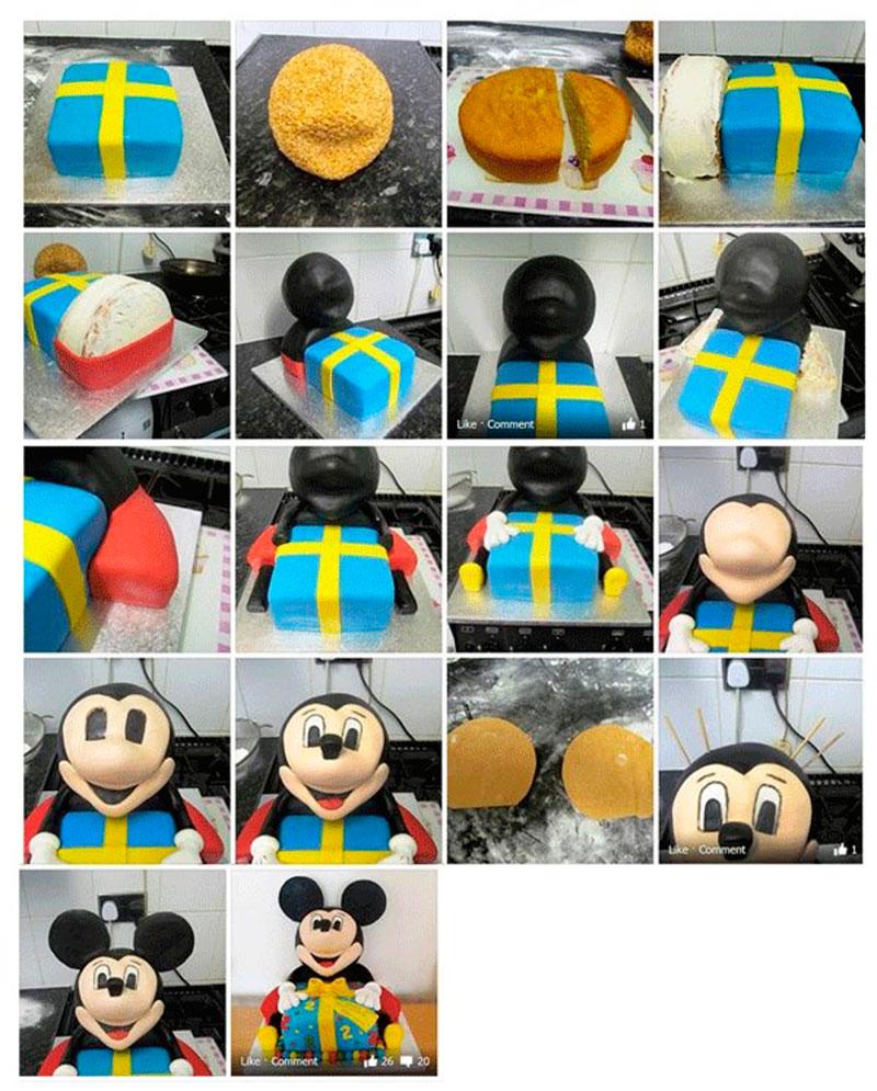 Montar bolo infantil 19