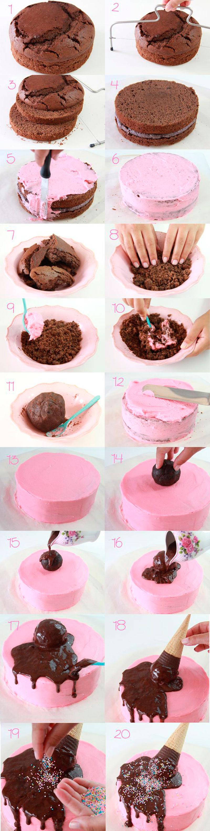Montar bolo infantil 7