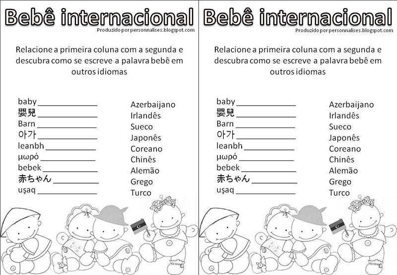 Fabuloso 10 brincadeiras divertidas de chá de bebê - Dicas da Japa IK61