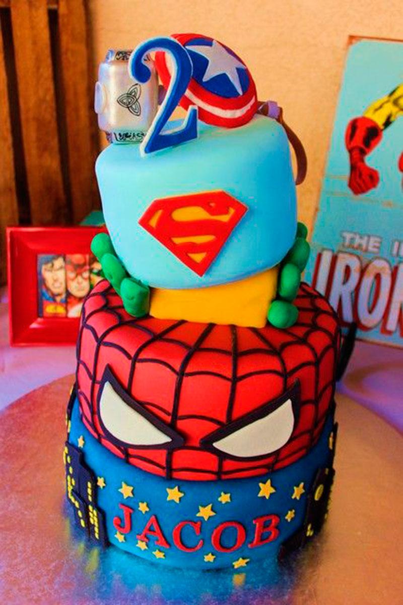 Bolo super-heróis homem aranha