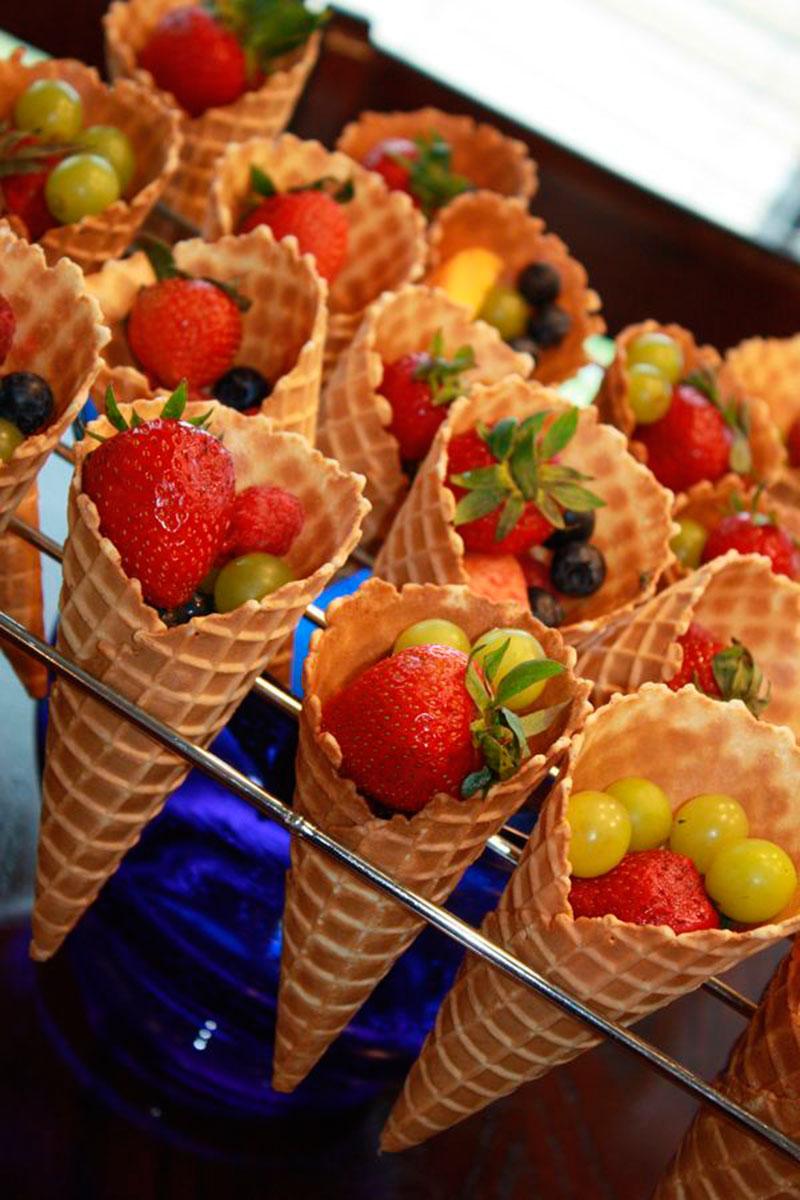 cone de frutas