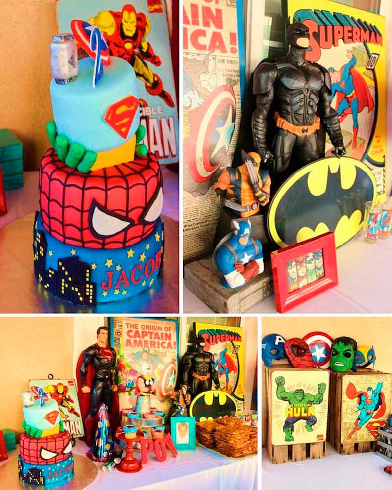 Decoração super-heróis