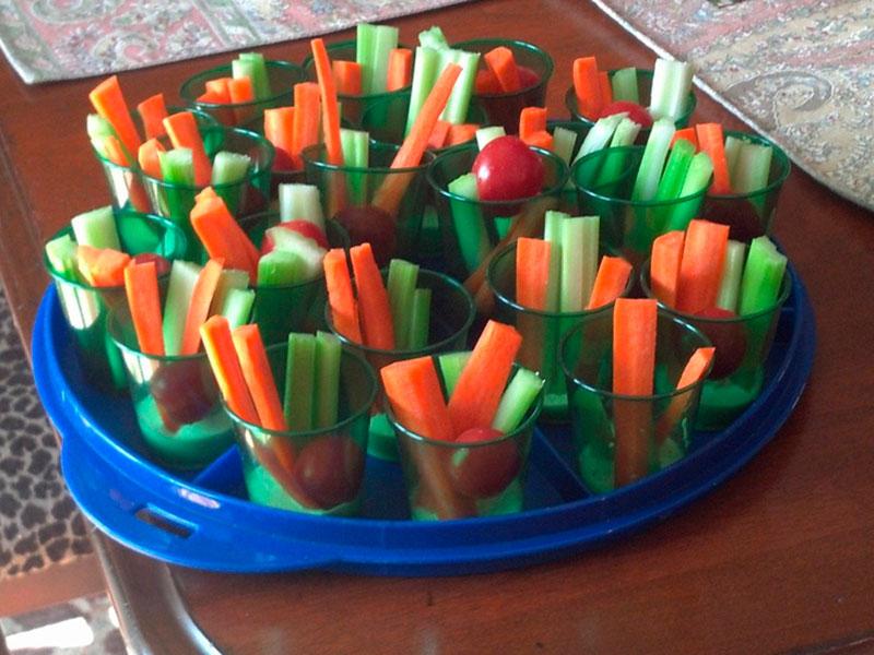 legumes em tiras