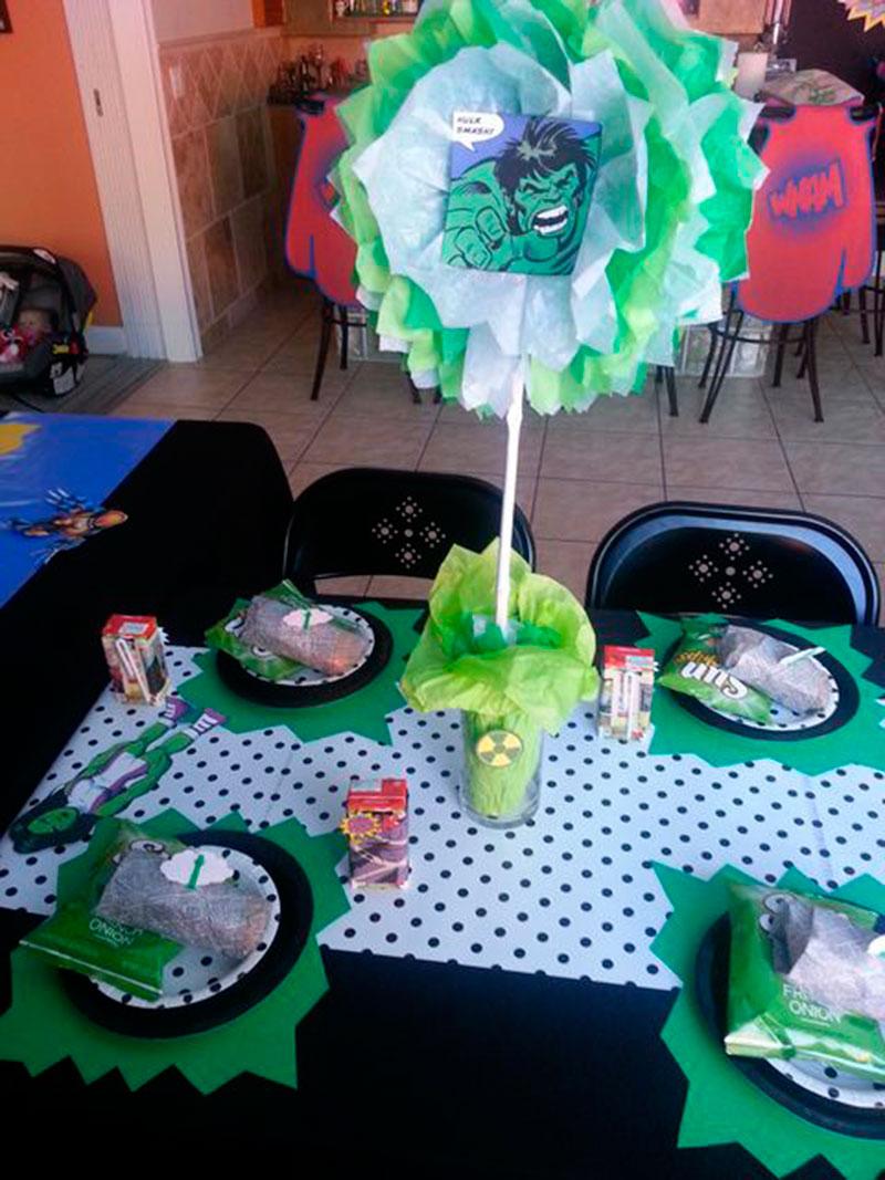 Mesa para os convidados Hulk-2