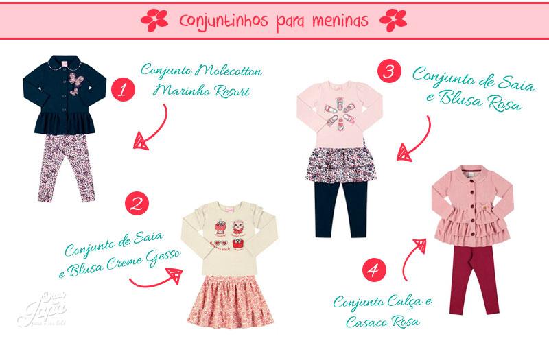 Conjuntinhos da moda para meninas
