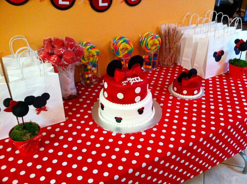 70 inspirações de festas infantis da minnie mouse