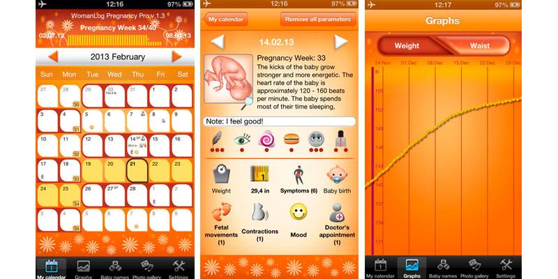 Calendário WomanLog Pregnancy