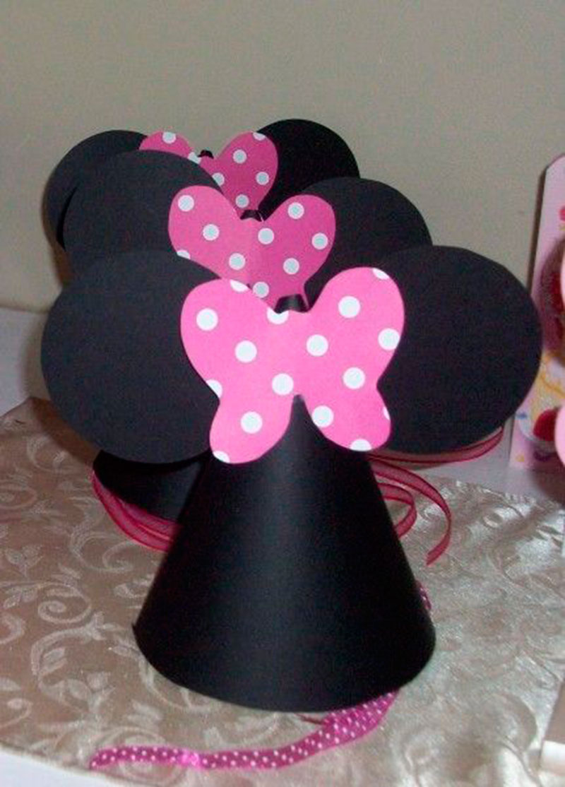 Chapeu de aniversario Minnie