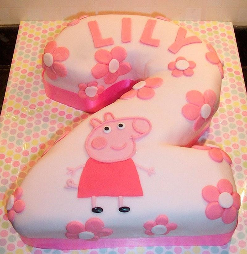 bolo de 2 anos Peppa