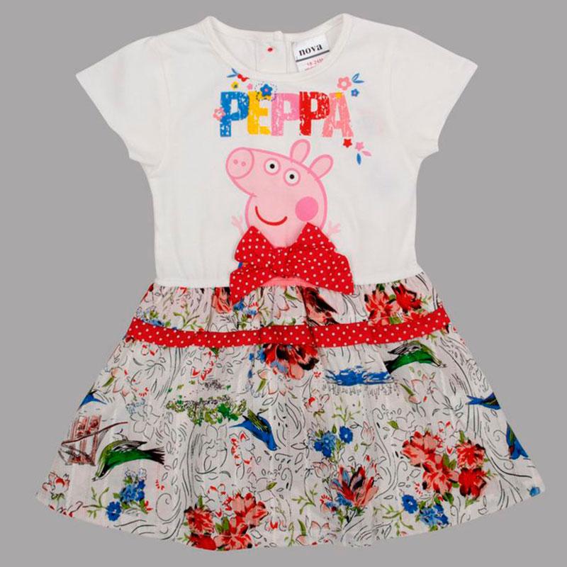 Vestidinho Peppa pig com cinto