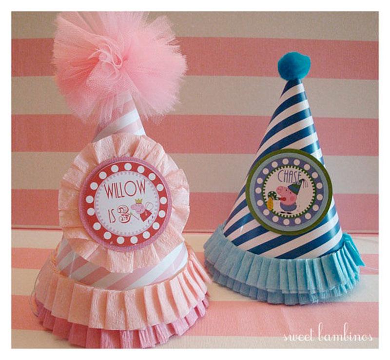 chapeu de aniversario-rosa e azul