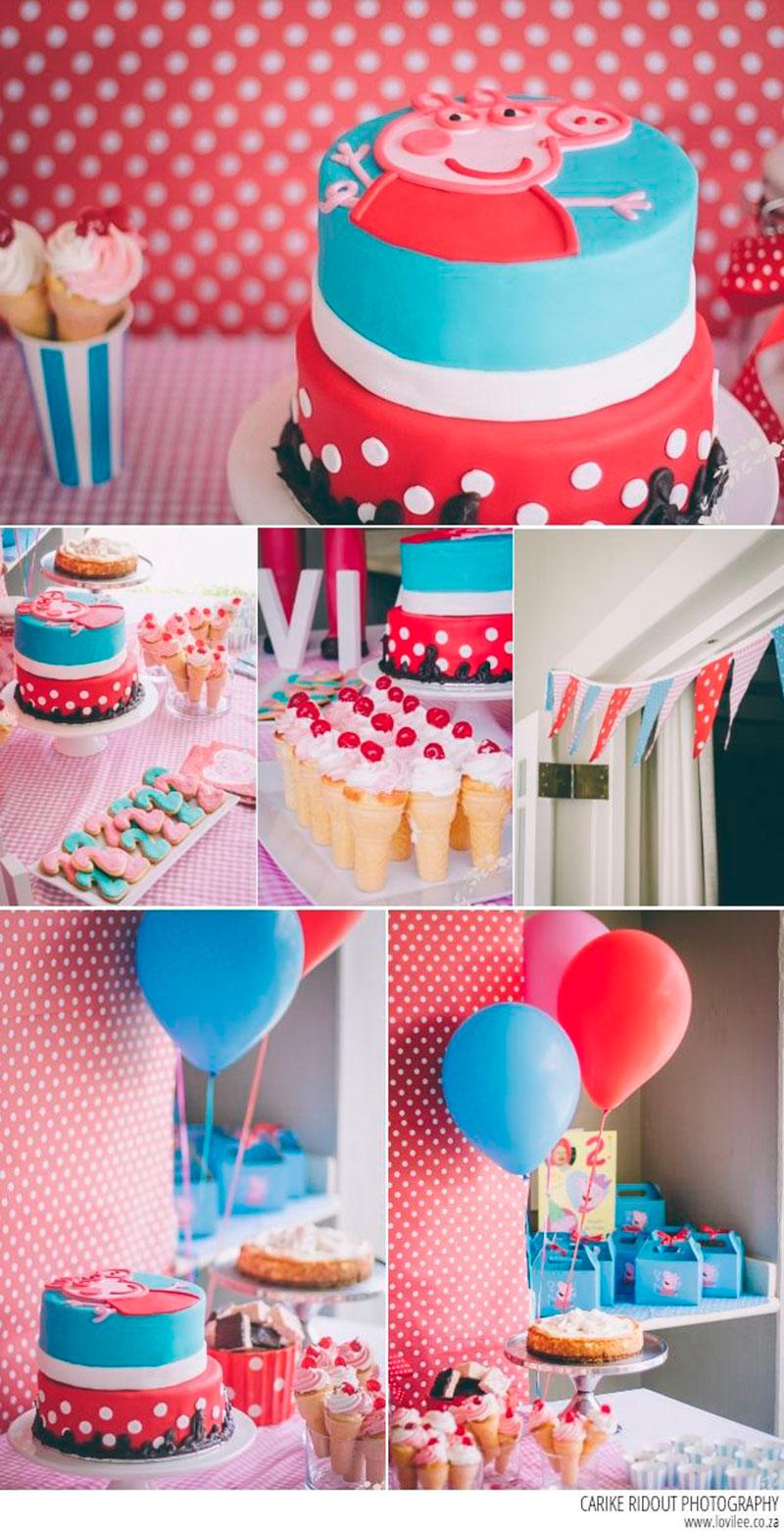 festa azul rosa e branco