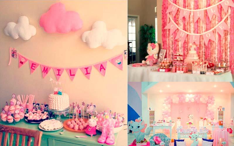 festa da Peppa comparando com Festa Gatinha Marie e Hello Kitty