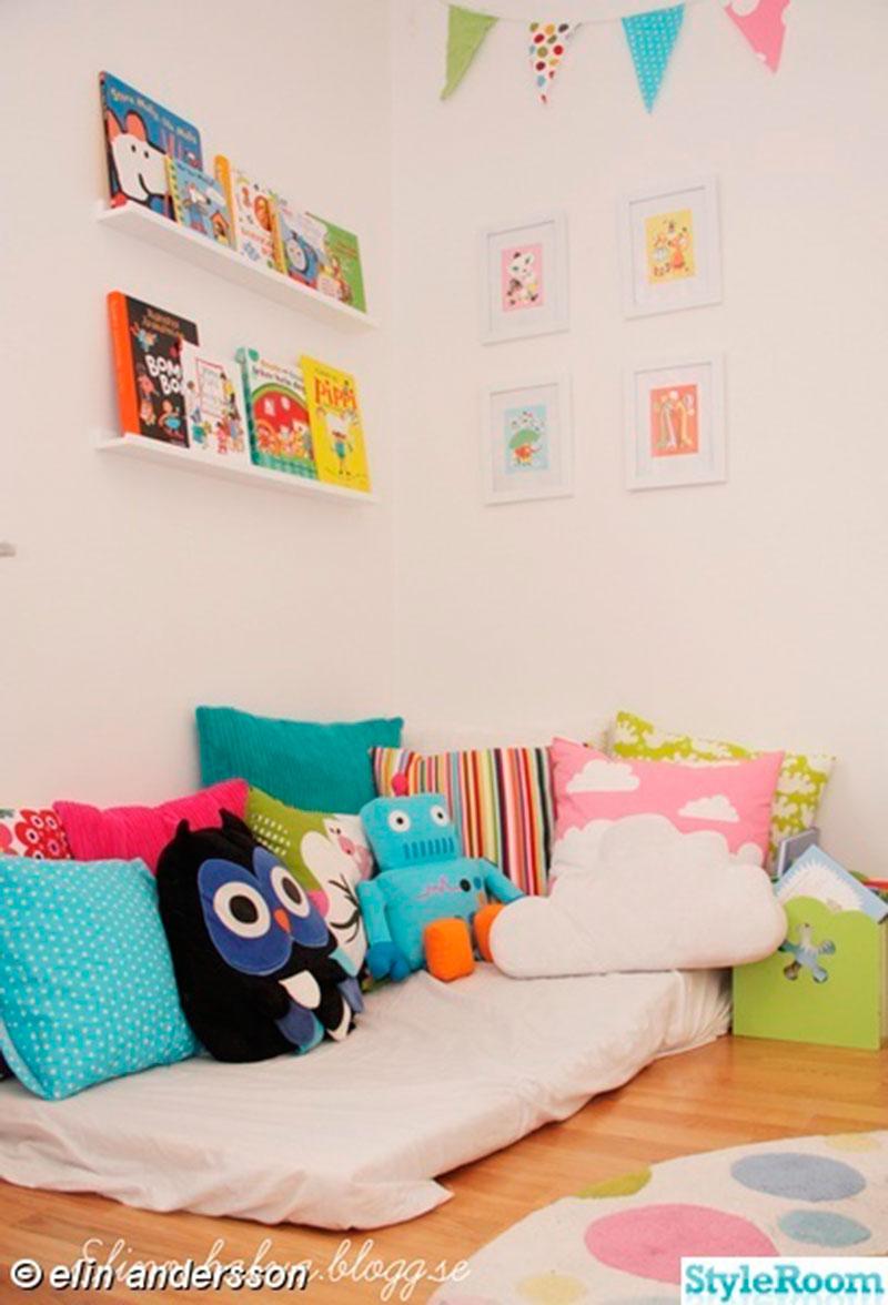 quarto montessori - almofadas