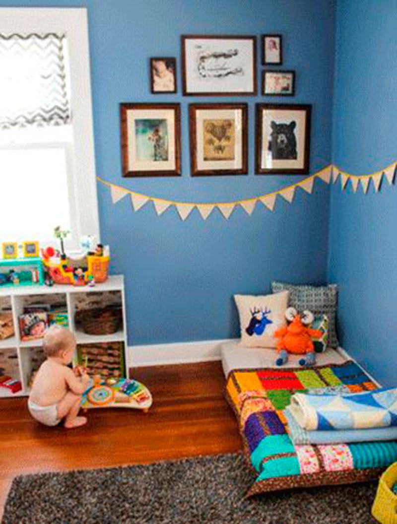 quarto montessori azul