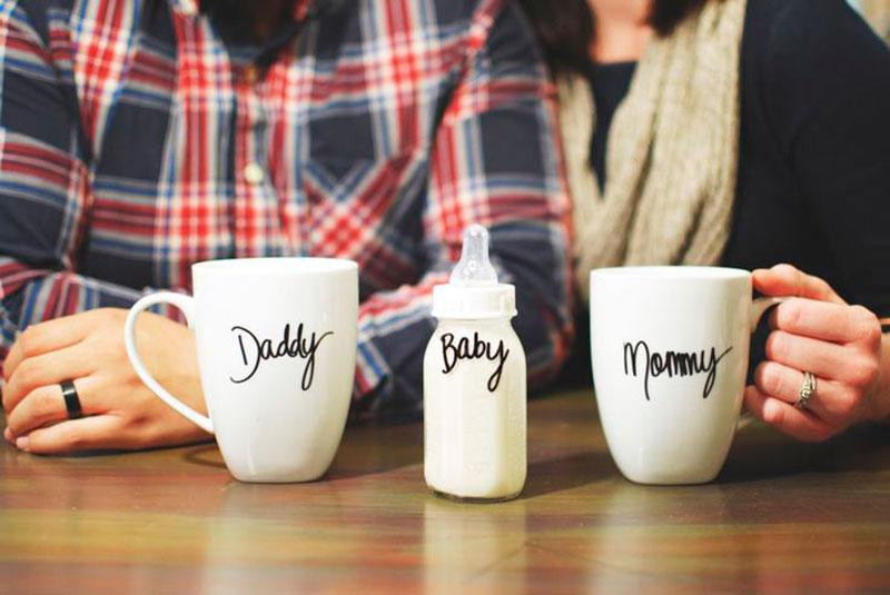 Caneca-mamae papai e baby