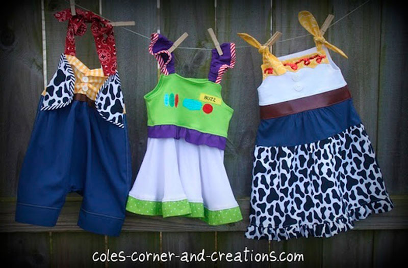 vestidos do toystory