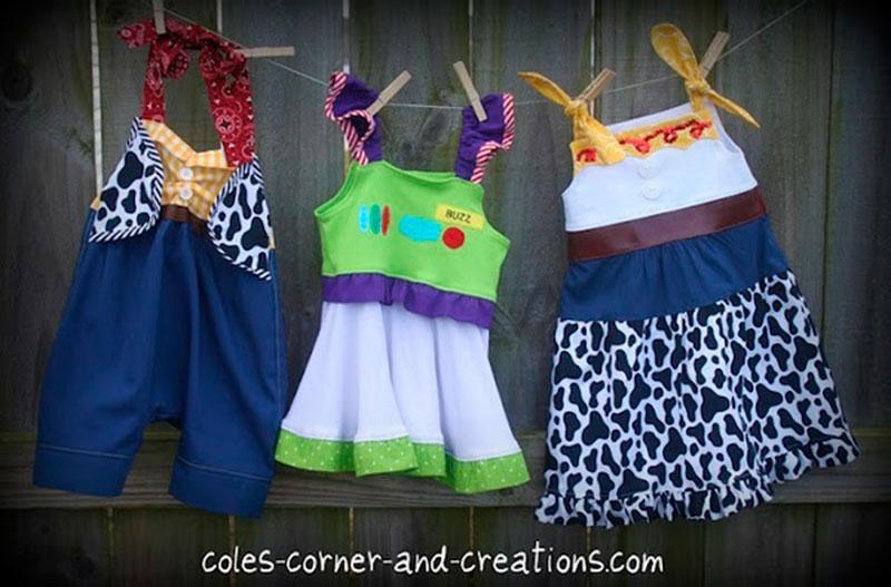 vestidos do toystory