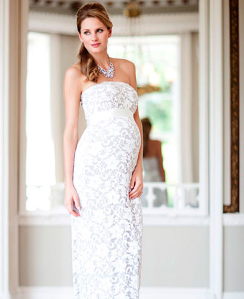 Modelo de vestido para noiva gravida
