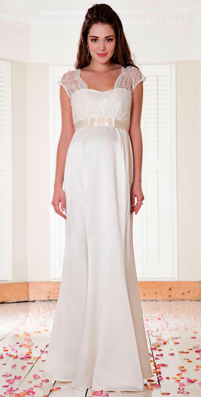 Vestido de noiva para gestante meigo