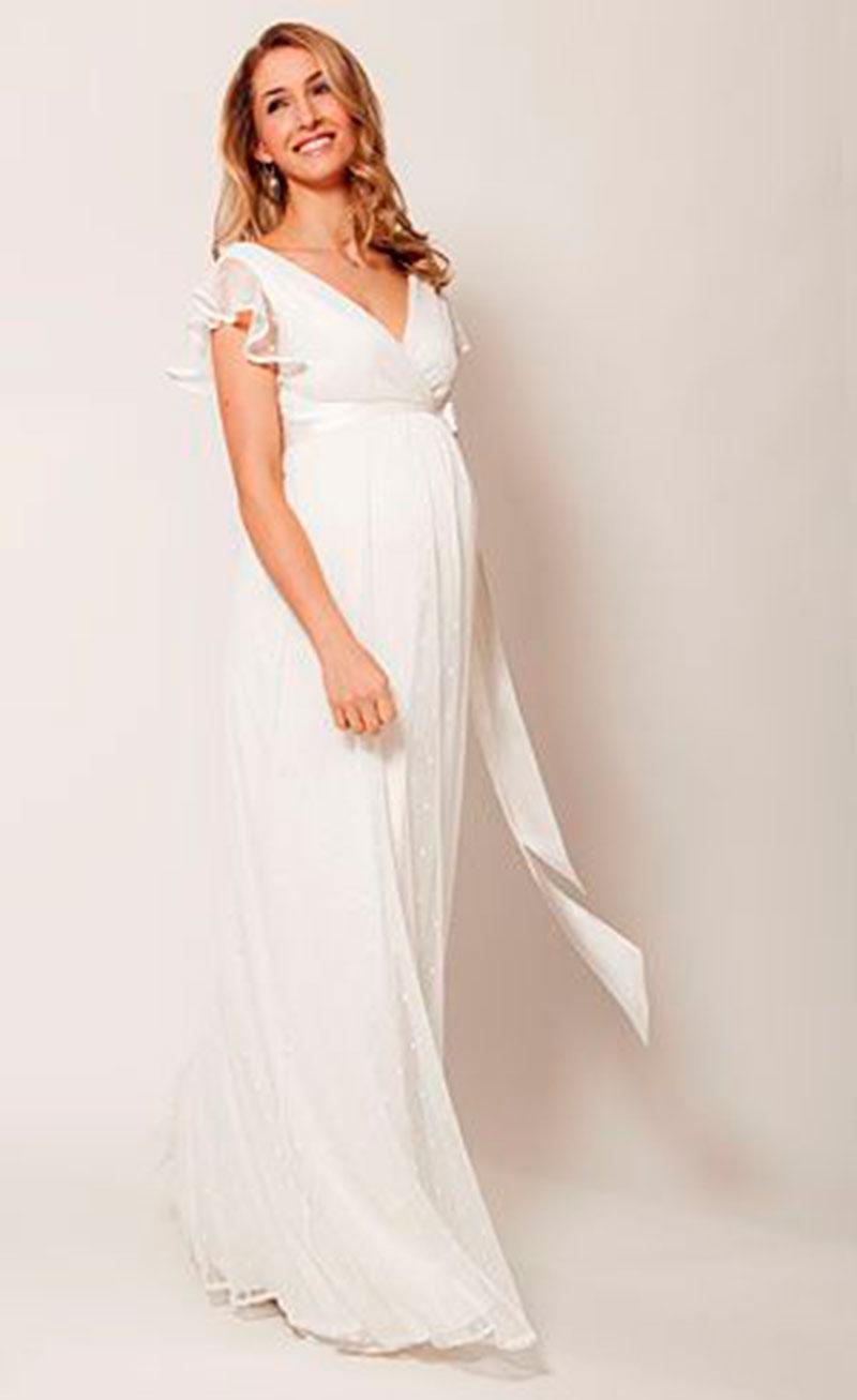 Vestido de noiva decote V