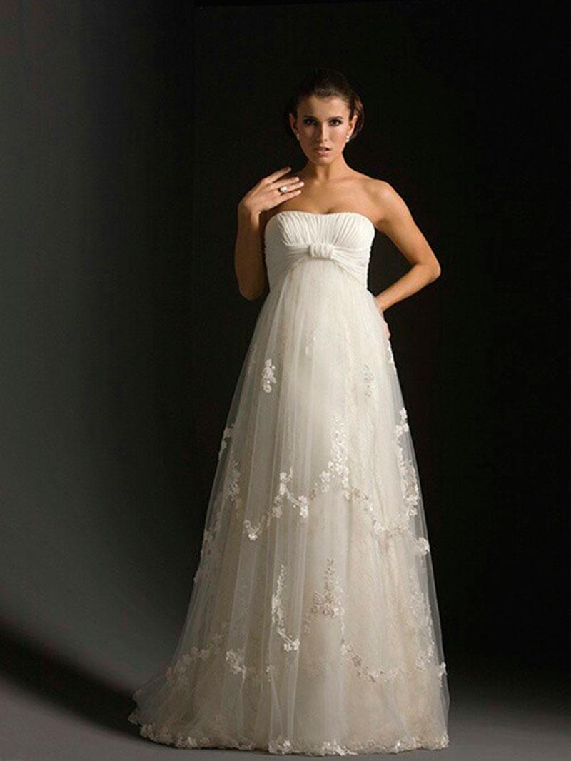 Vestido de noiva gestante charmoso