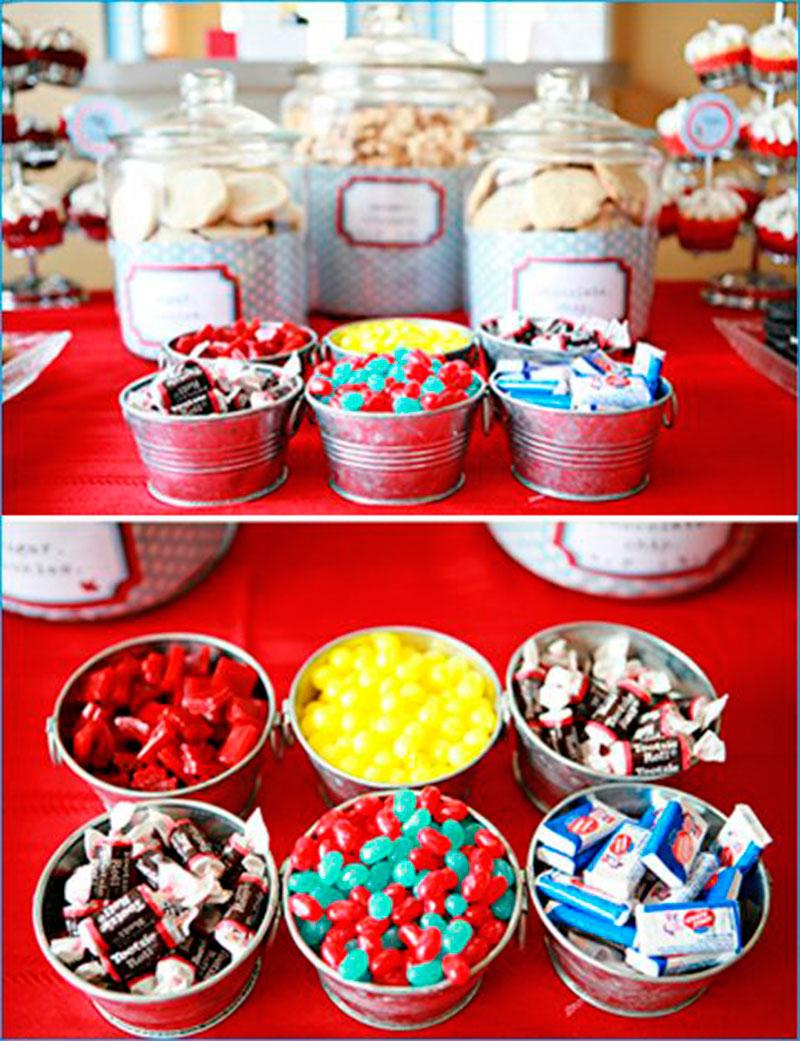 baldes para doces