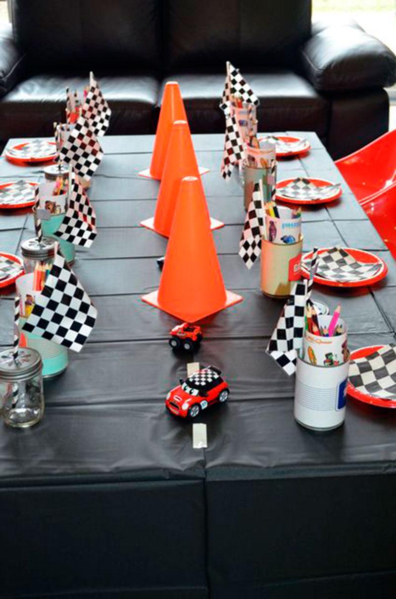 cone mesa de atividade carros
