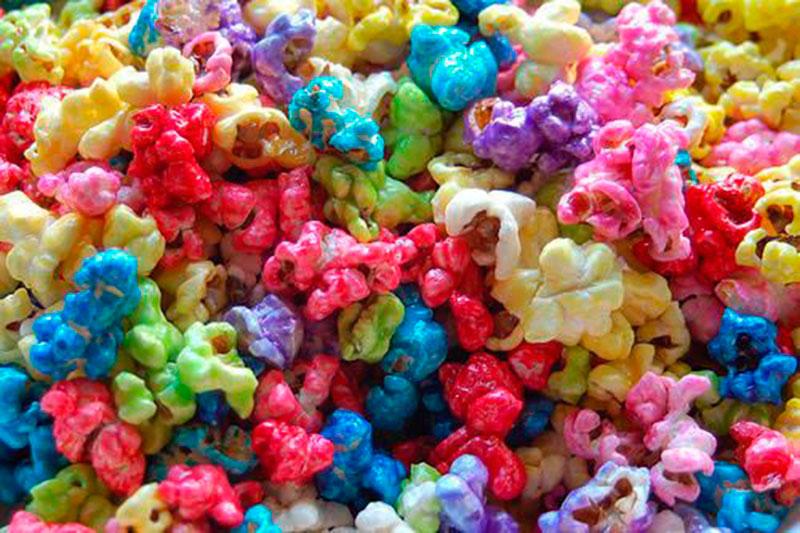 pipoca colorida