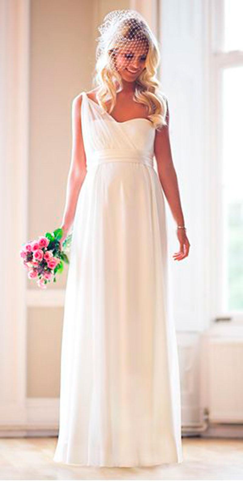 vestido de noiva basico e elegante