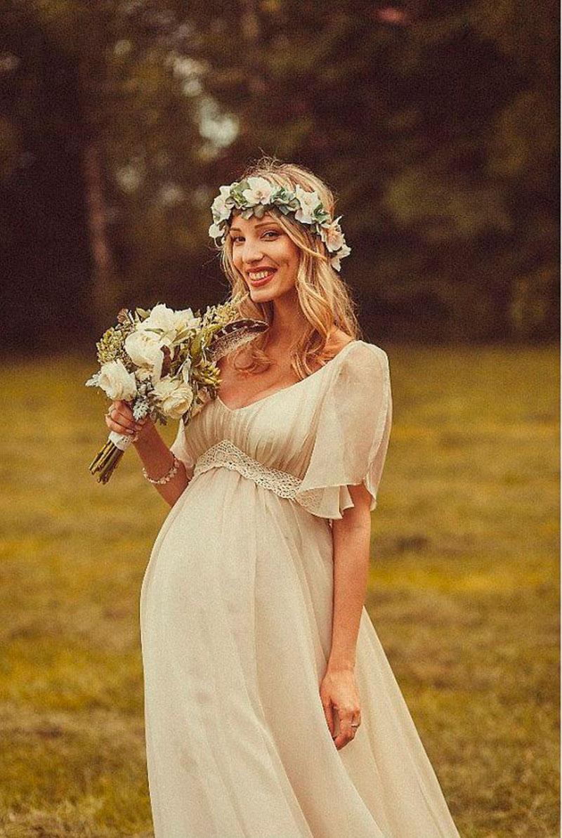 vestido de noiva gestante desponjado