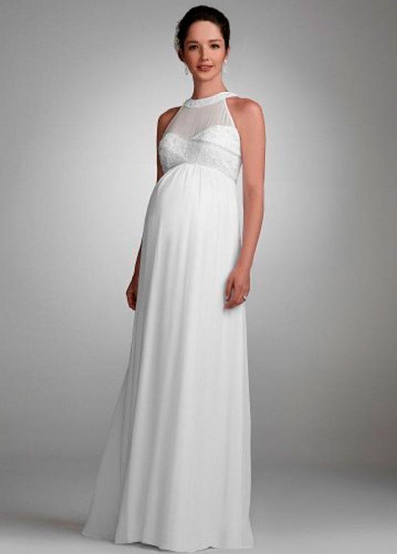 vestido de noiva para gravidinhas