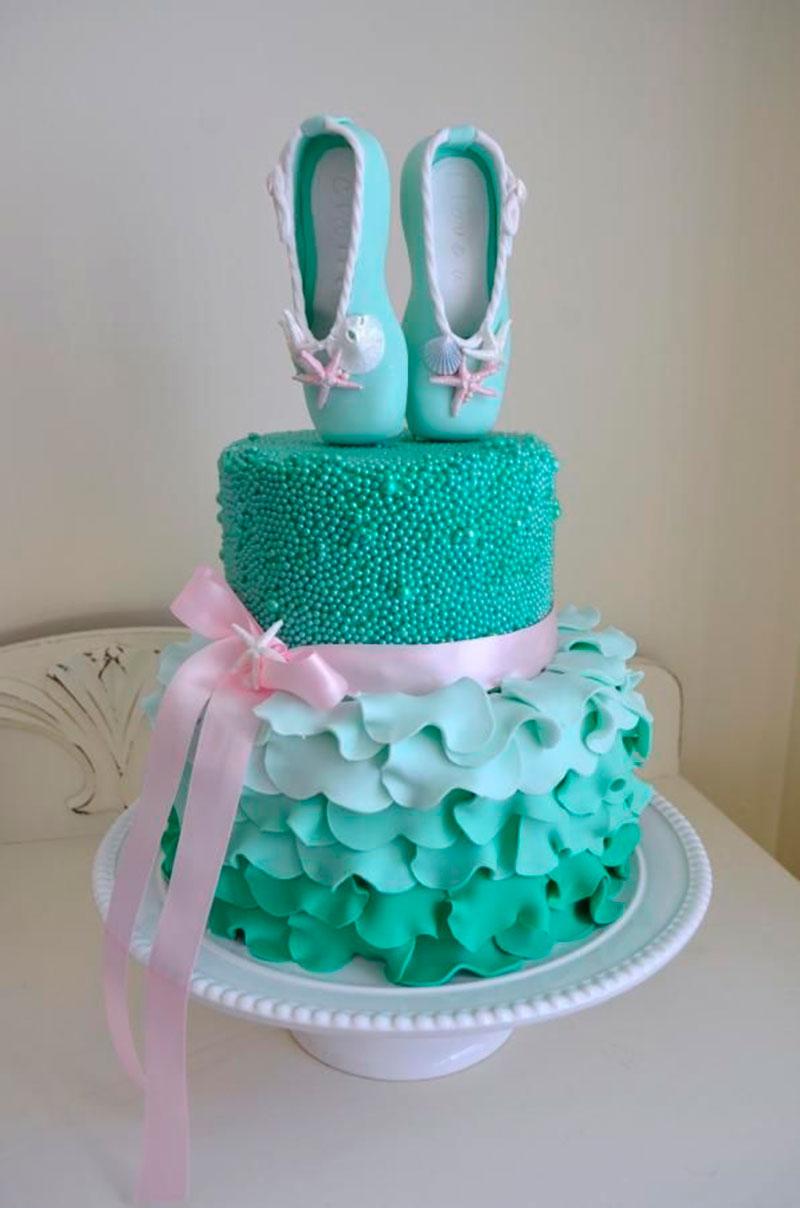 Resultado de imagem para bolo para aniversario infantil de bale