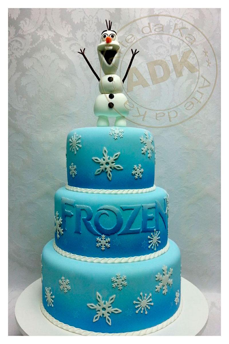 bolo com o Olaf